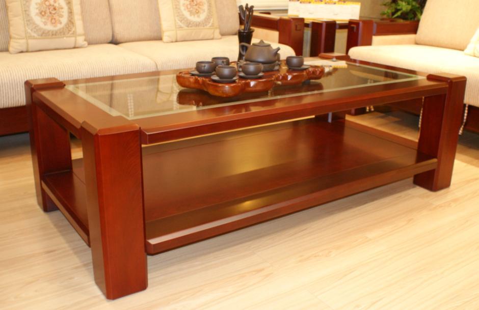 实木办公室家具古典风雅茶几展示