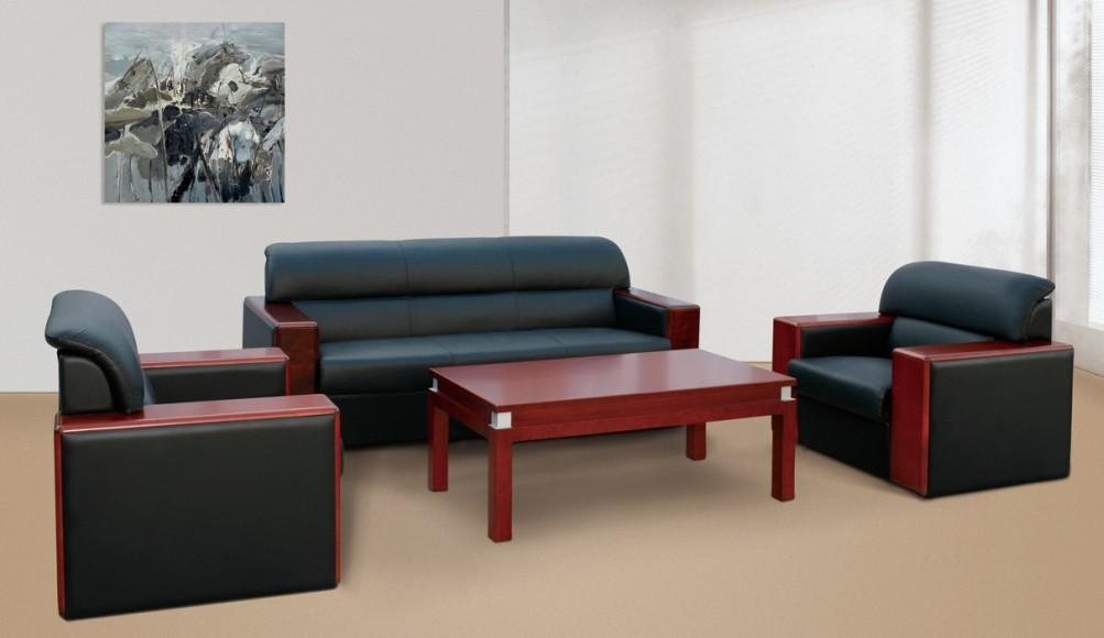 高贵典雅办公室家具办公沙发展示图