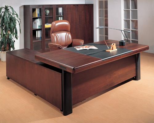 古典办公室家具实木大班台