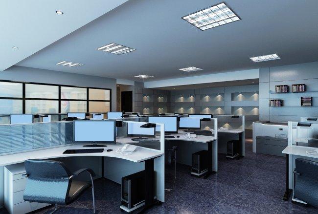 办公室家具屏风卡位展示