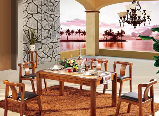 中式红木家具桌椅展示
