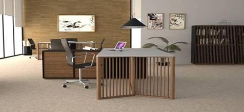 竹制办公室家具展示