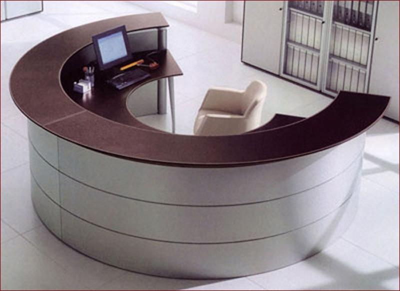 办公室家具实木烤漆办公前台