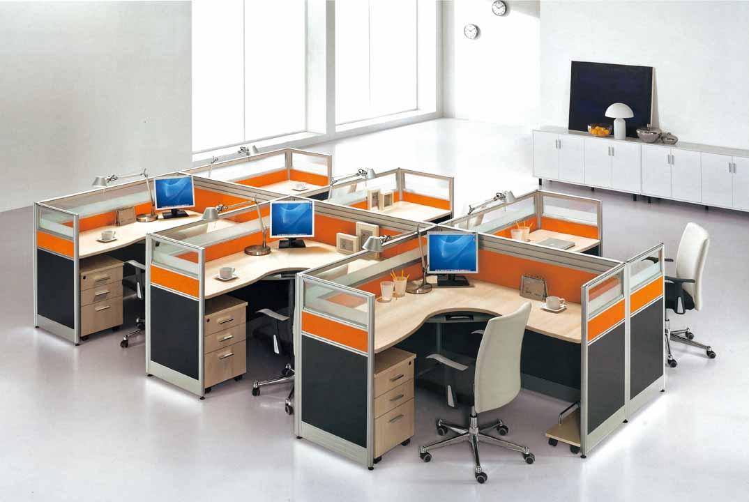 木质办公室家具开发区屏风卡位