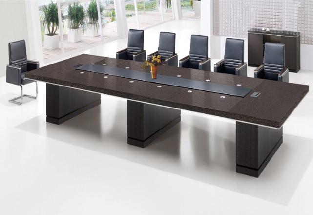 实木贴木皮会议桌展示