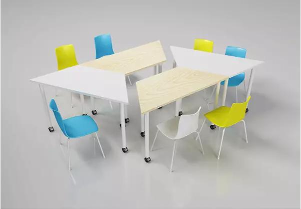 移动拼接正方形会议桌