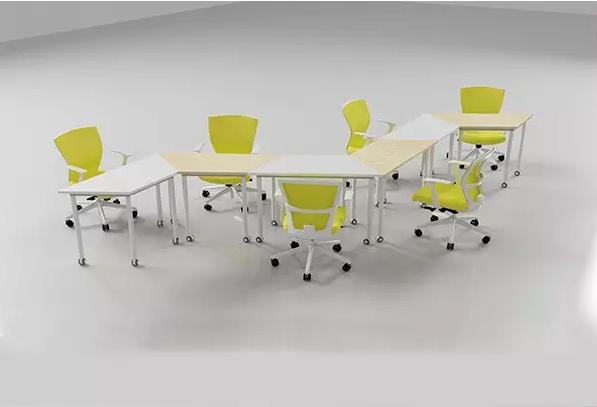 波浪形移动拼接会议桌