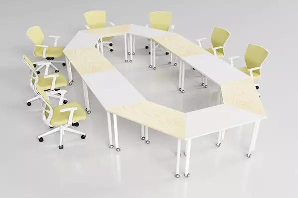 椭圆形移动拼接会议桌