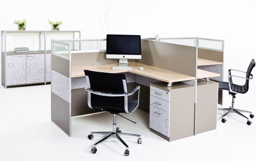 办公室家具屏风卡位展示图