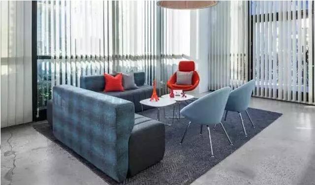软装办公室家具洽谈桌与沙发