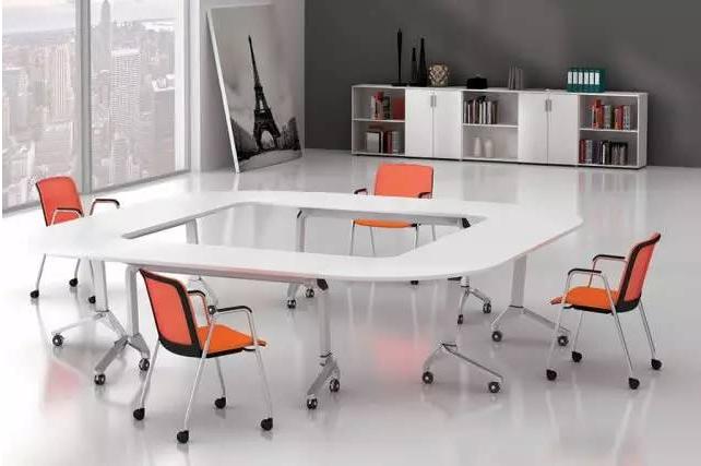 时尚现代的办公家具会议桌场景图