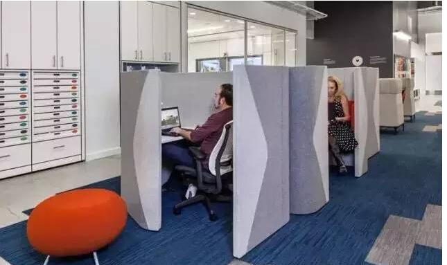 现代办公室家具软装办公卡位