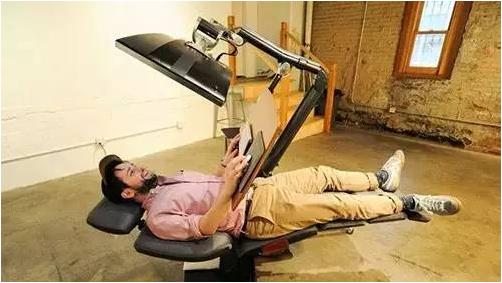 智能办公桌椅场景图
