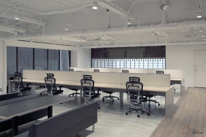 开放式屏风办公桌场景图