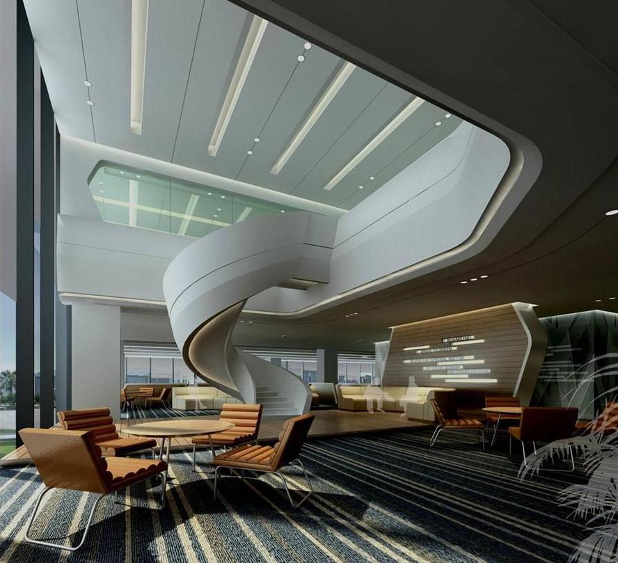 时尚简约的办公环境空间家具展示
