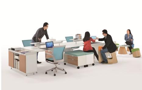 板式办公室家具展示