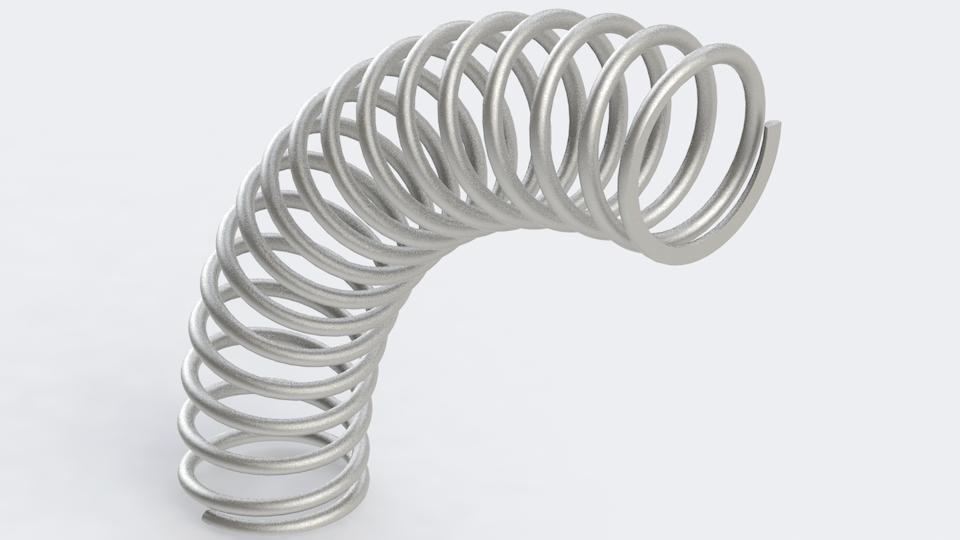 蛇形螺旋弹簧