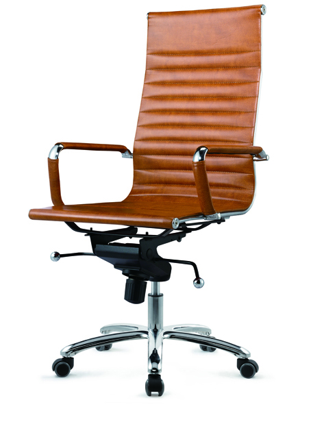 时尚棕黄色班台椅